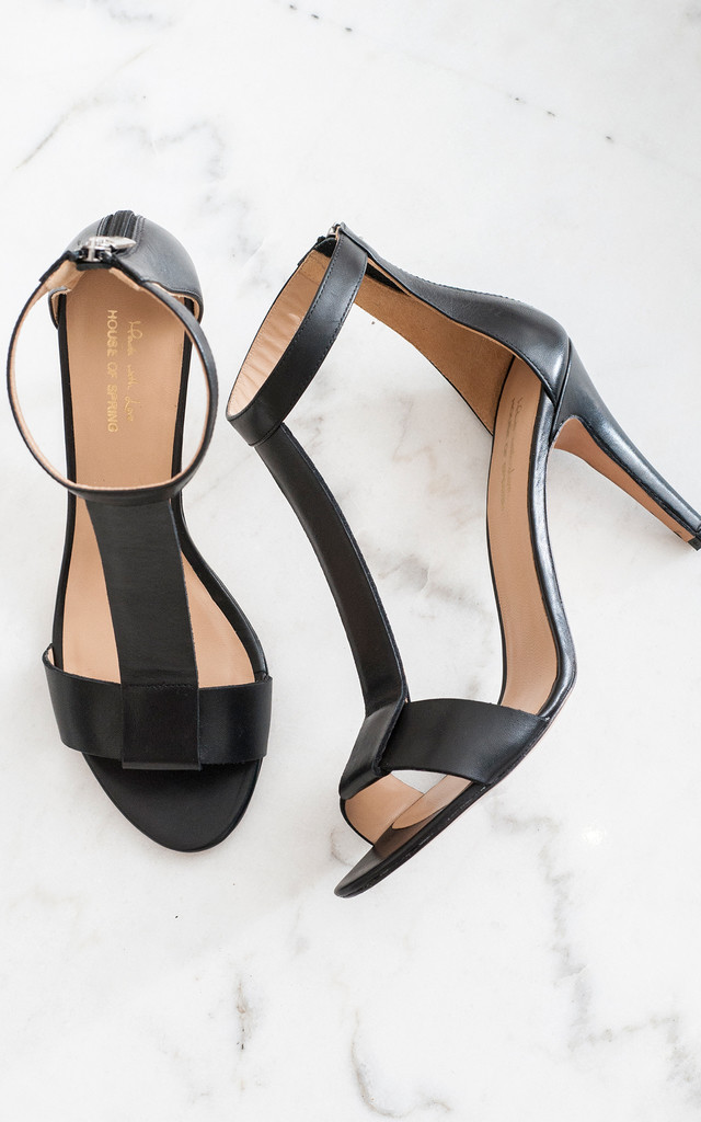 Azur black sandals by House of Spring