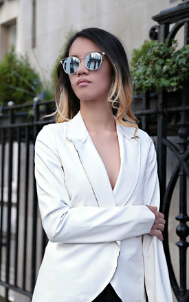 Chloe white faux leather jacket by VeryGirly