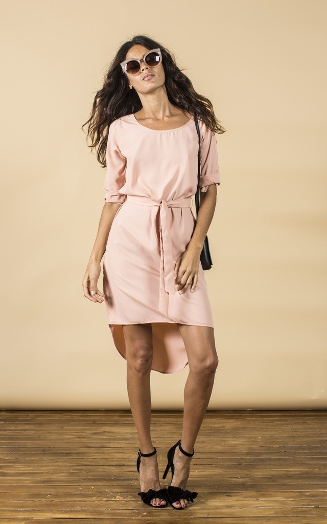 Chiquita Dress in Blush Pink by Dancing Leopard