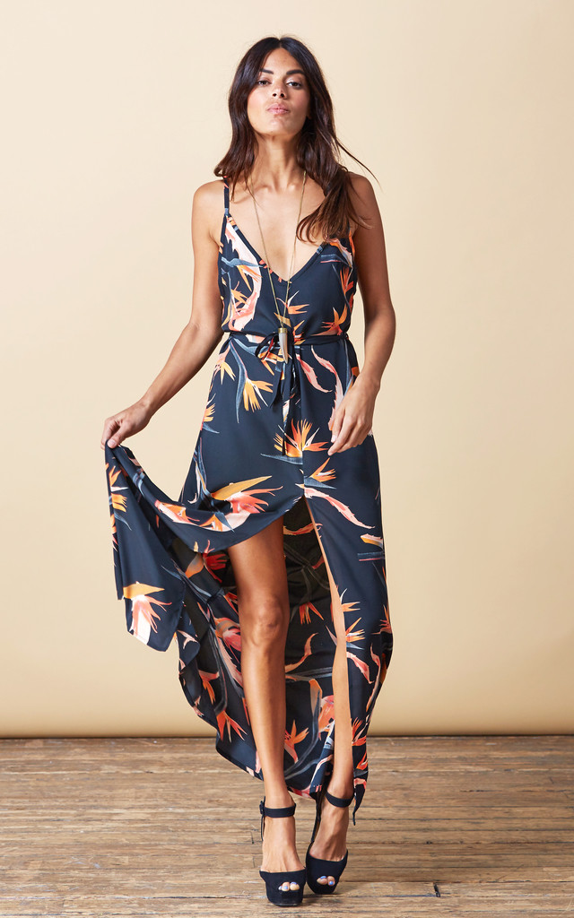 Split Leg Dress in Paradise Birds image