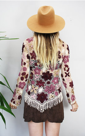 70's Vintage Beaded Crochet Top by SOUTHERN STORIES