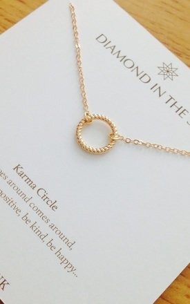 Gold Karma Circle Necklace Gift Card by Diamond in The Sky