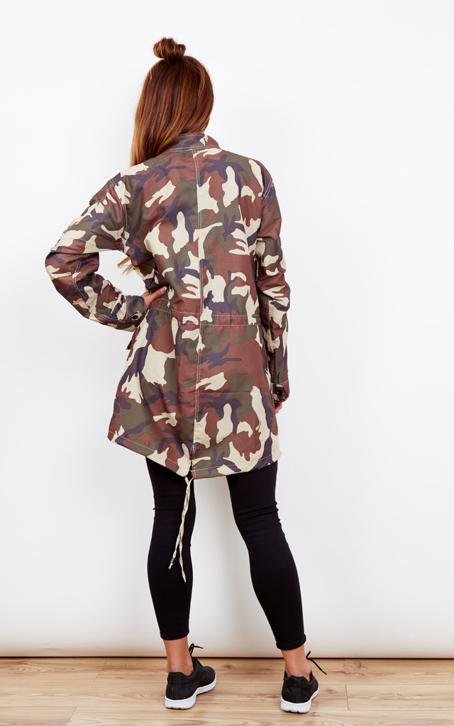 Green Camo Rain Jacket by Bella and Blue