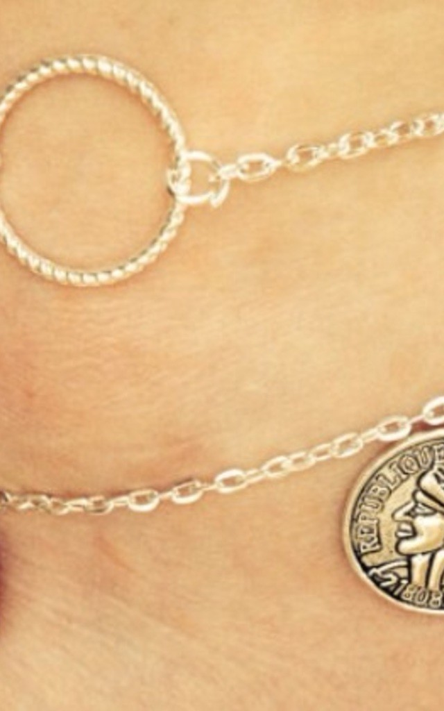 Circle Anklet, Ankle Bracelet by Diamond in The Sky