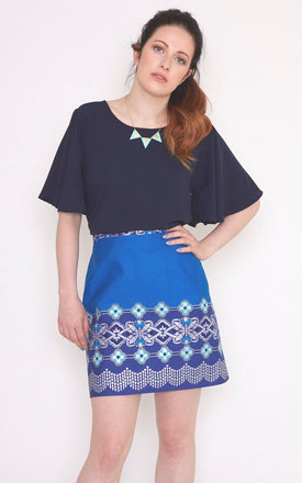 Amelia Top In Navy by Mollie Brown