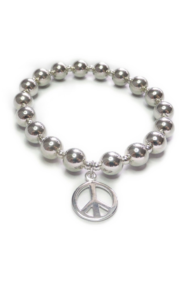 Chunky Stacking Ball Bracelet with Peace by Jacy & Jools