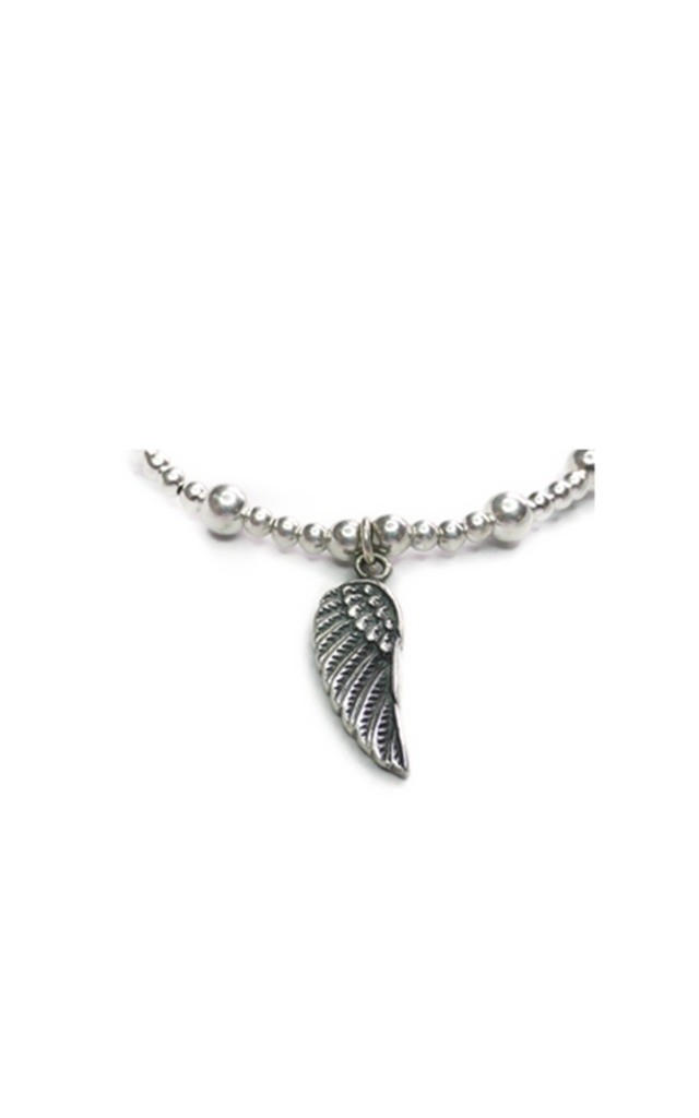 Sterling Silver Twinny Mini Bracelet with Wings by Jacy & Jools