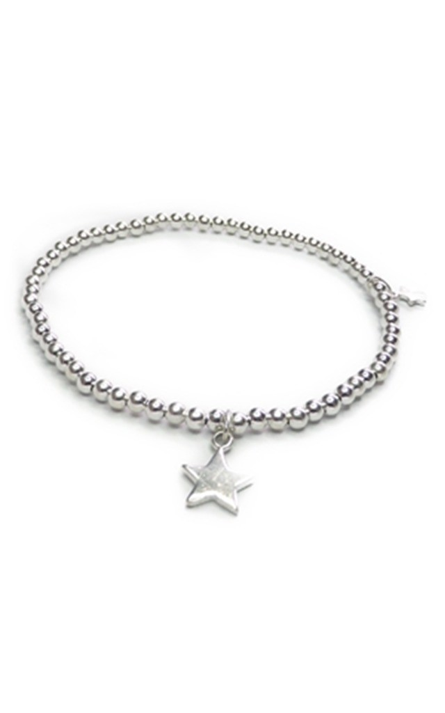 Sterling Silver Twinny Mini Stacking Bracelet with Star Charms by Jacy & Jools