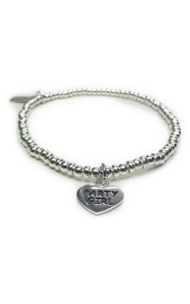 Sterling Silver Ball Bracelet with Party Girl by Jacy & Jools