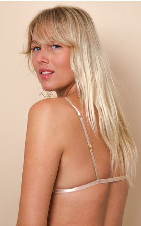 Nude Lace Padded Bralette by Pretty Lavish