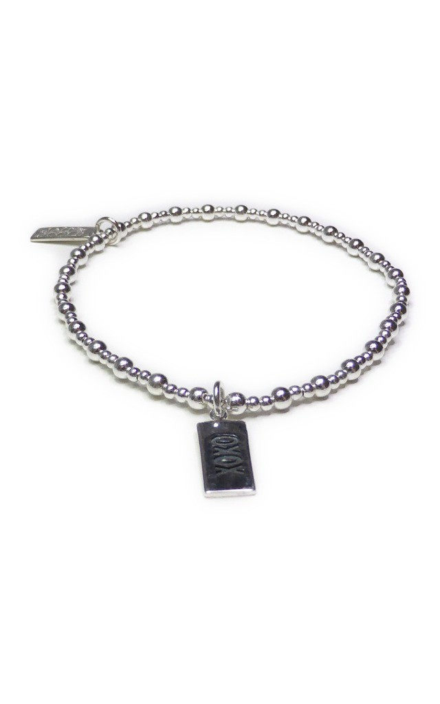 Sterling Silver Mixed Ball Bracelet with XOXO by Jacy & Jools