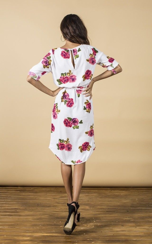 Chiquita Dress in White Rose image