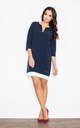 Navy blue loose fitting dress by FIGL