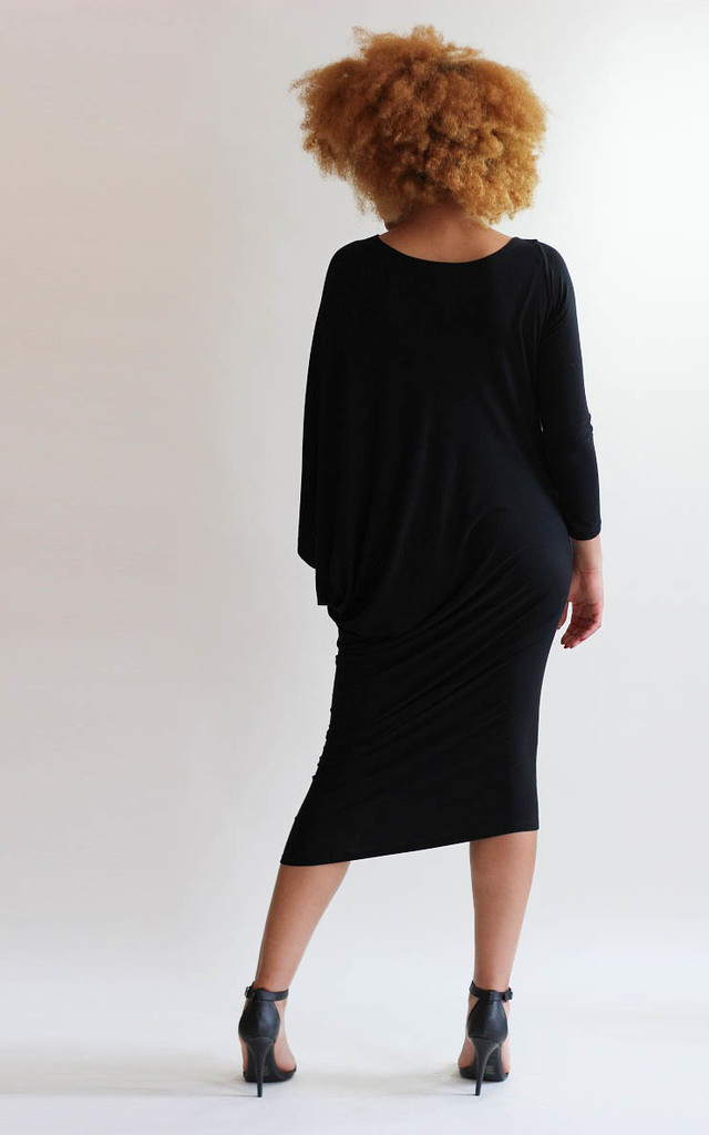 Ellie Black Asymmetric Dress by LagenLuxe