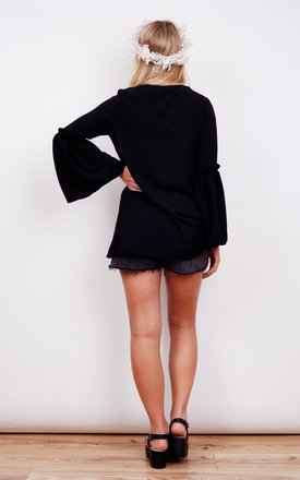 V Neck Flared Sleeved Blouse by John Zack