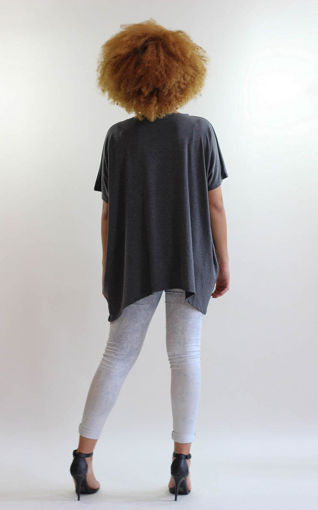 Maddy Grey Oversized Tee Shirt by LagenLuxe