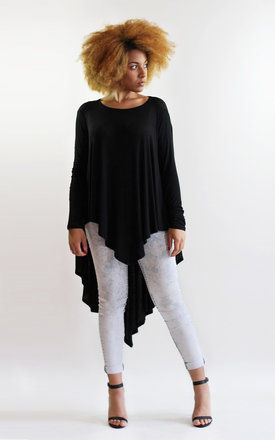 Godiva Black Long Sleeve Oversize Top by LagenLuxe