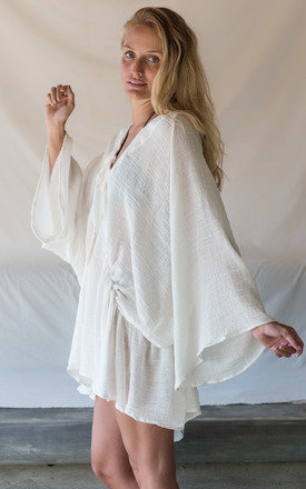 COTTON KAFTAN IN OFF WHITE by TIA