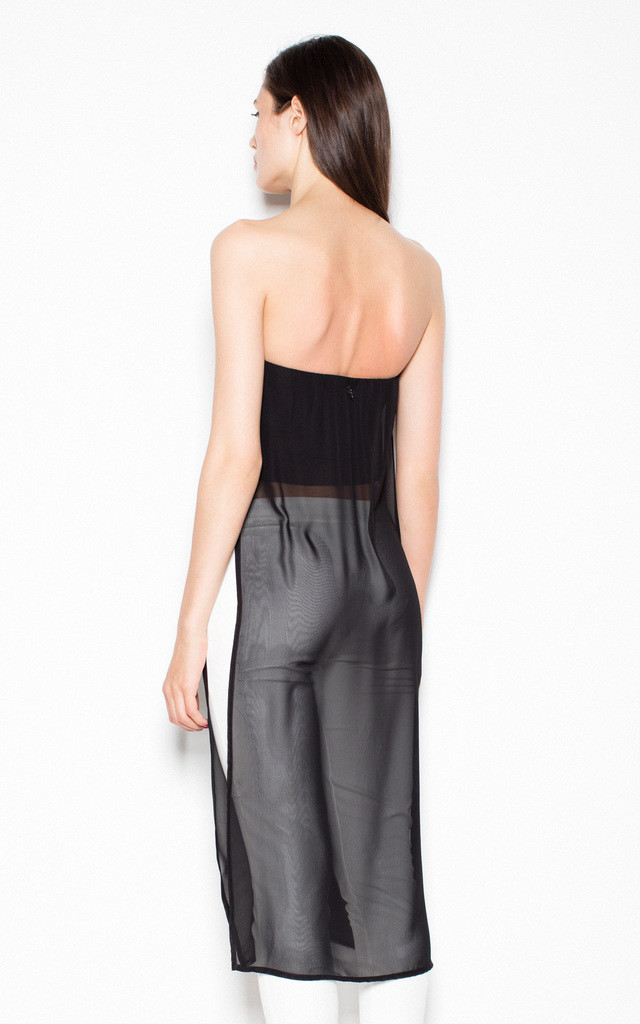 Black strapless top by Venaton