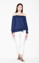 Navy blue top with ruffles by Venaton