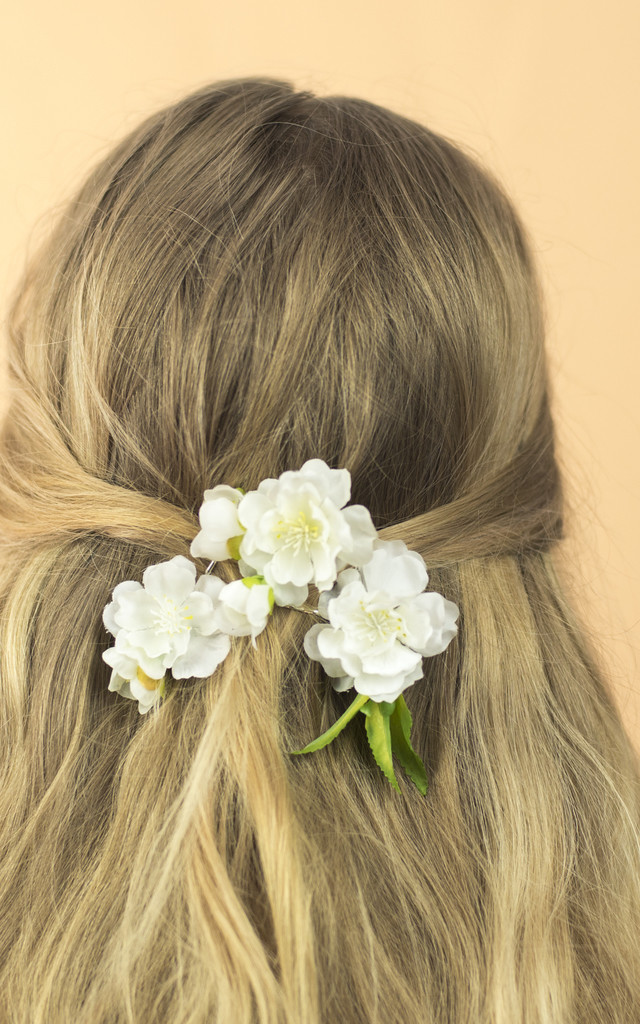 Cherry Blossom Bobby Pins - Ivory by Crown and Glory