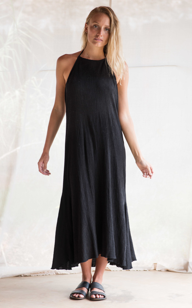 HALTER DRESS IN BLACK by TIA
