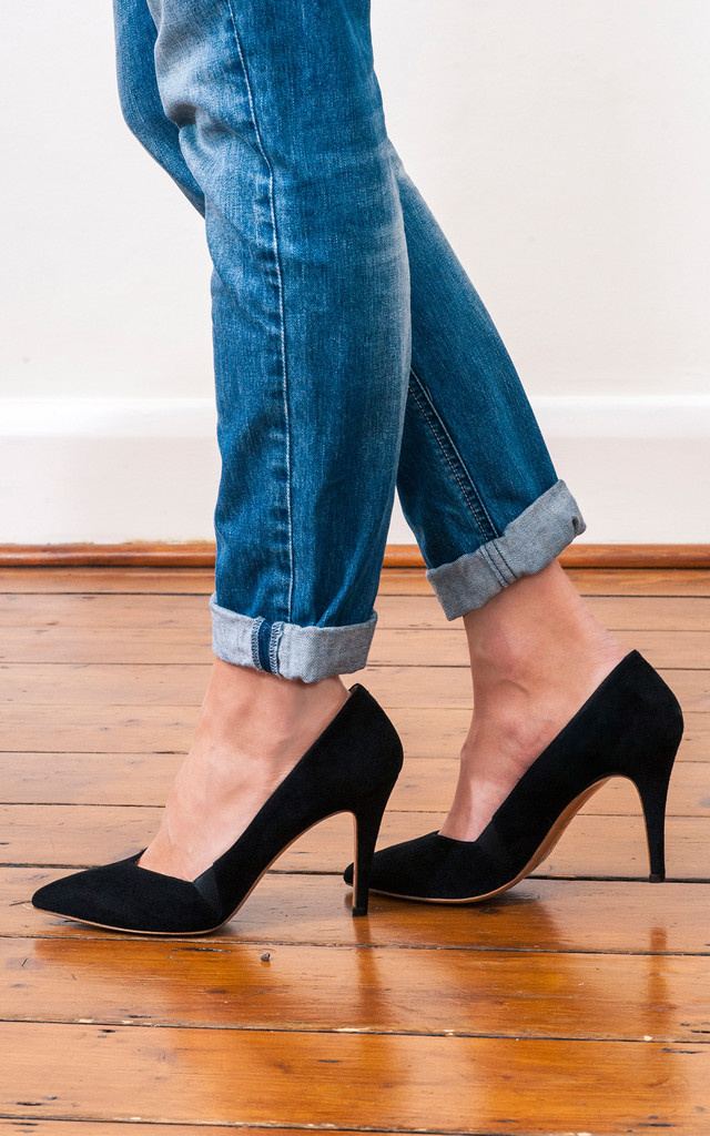 Honore Black Pumps by House of Spring