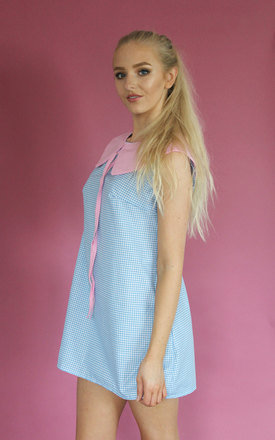 60s Bubblegum Gingham Swing Dress by Vintage Style Me