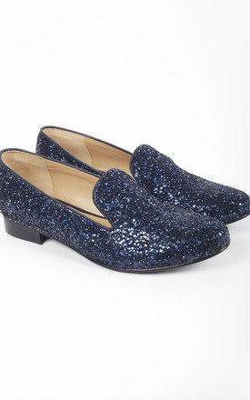 Glitter Comfortable Loafers Slip On by House of Spring