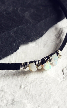 AVA. Opal Black Suede Choker Necklace by Aluna Mae