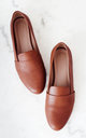 Tan Leather Slip On by House of Spring