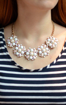 Statement Chunky Colour Changing Pearl Necklace by Silver Rain