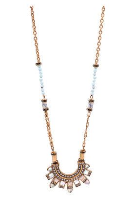 Ethnic Inspired Beaded Necklace by Silver Rain