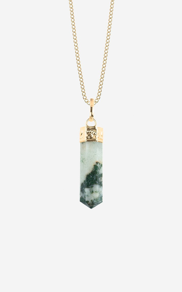 LOURDES Tree Agate Pendulum Necklace by Rock N Rose