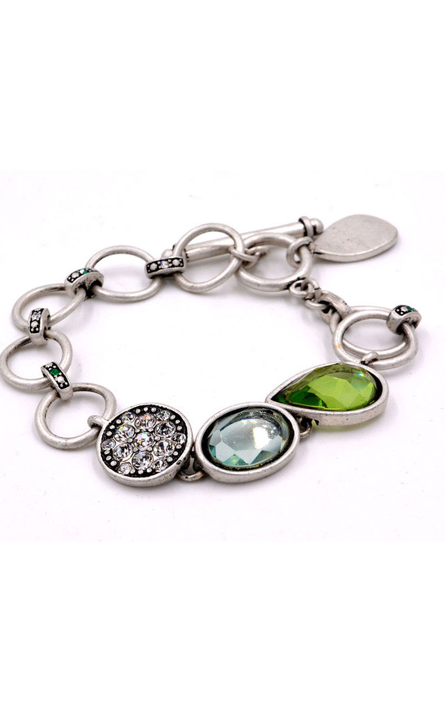 Hoops Crystal Bracelet by Silver Rain