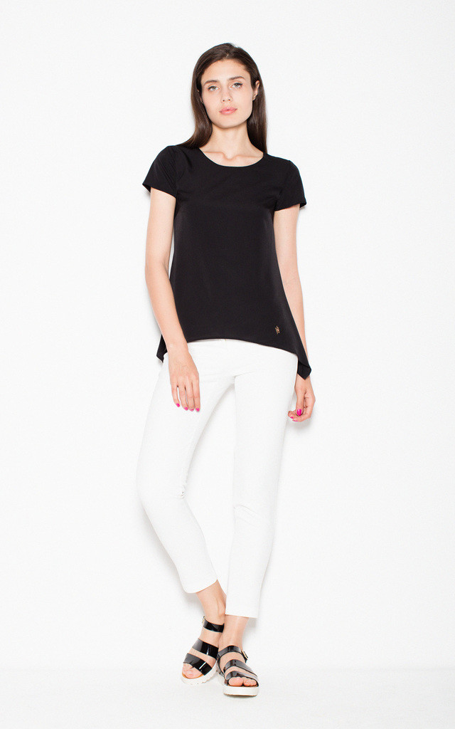 Black Top Shirt with longer sides by Venaton