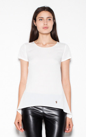 White Top Shirt with longer sides by Venaton