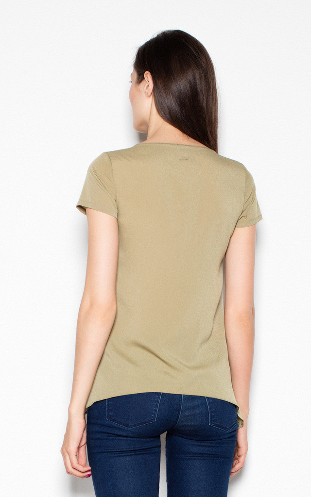 Olive Top Shirt with longer sides by Venaton