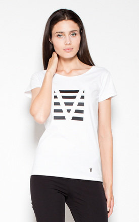 White T-shirt with imprint by Venaton