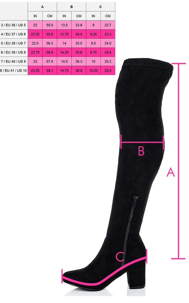 GIDEON Block Heel Over Knee Tall Boots - Black Suede Style by SpyLoveBuy