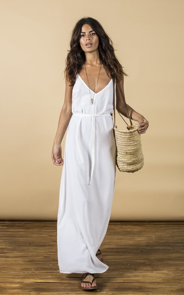Giselle Maxi in White image
