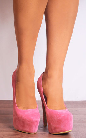 Candy Pink Concealed Platforms Court Shoes Stilettos by Shoe Closet
