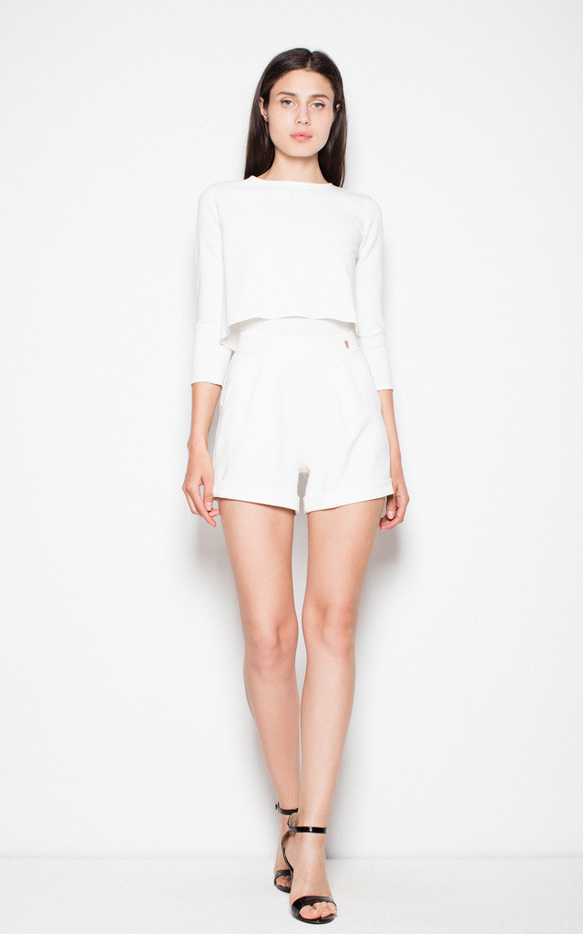 Ecru playsuit with fastened top by Venaton