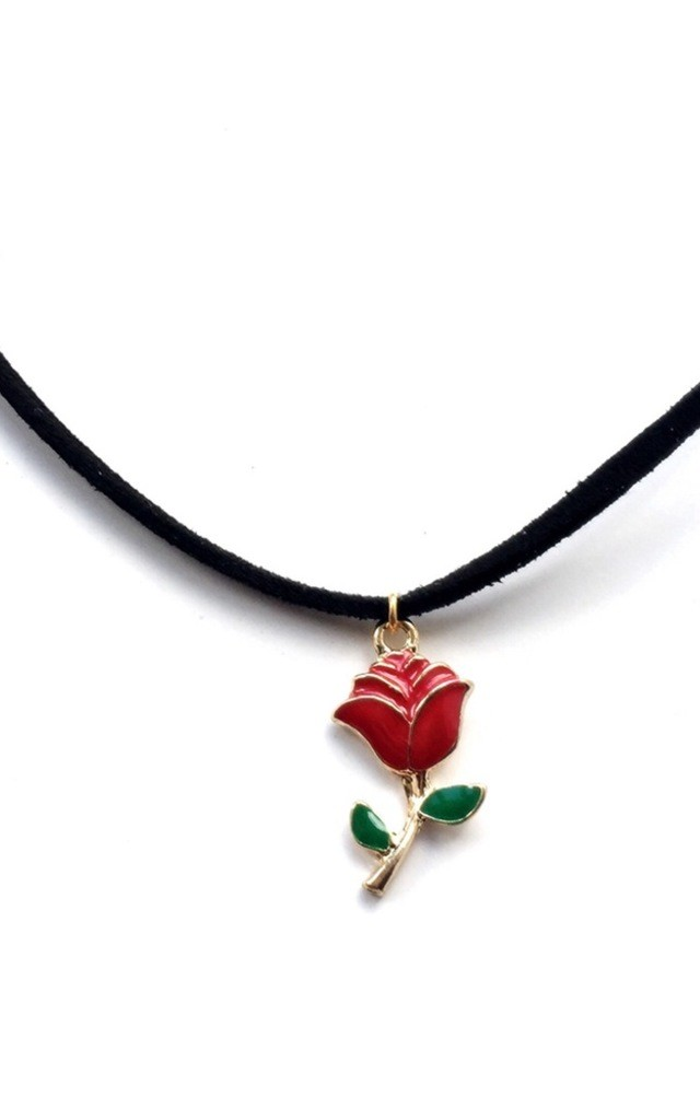 Enchanted Rose Choker by MoonChild
