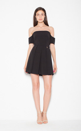 Black stunning mini skirt with dropped sleeves by Venaton