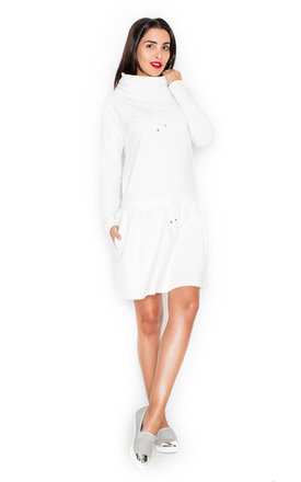 White Sporty Dress by KATRUS Product photo
