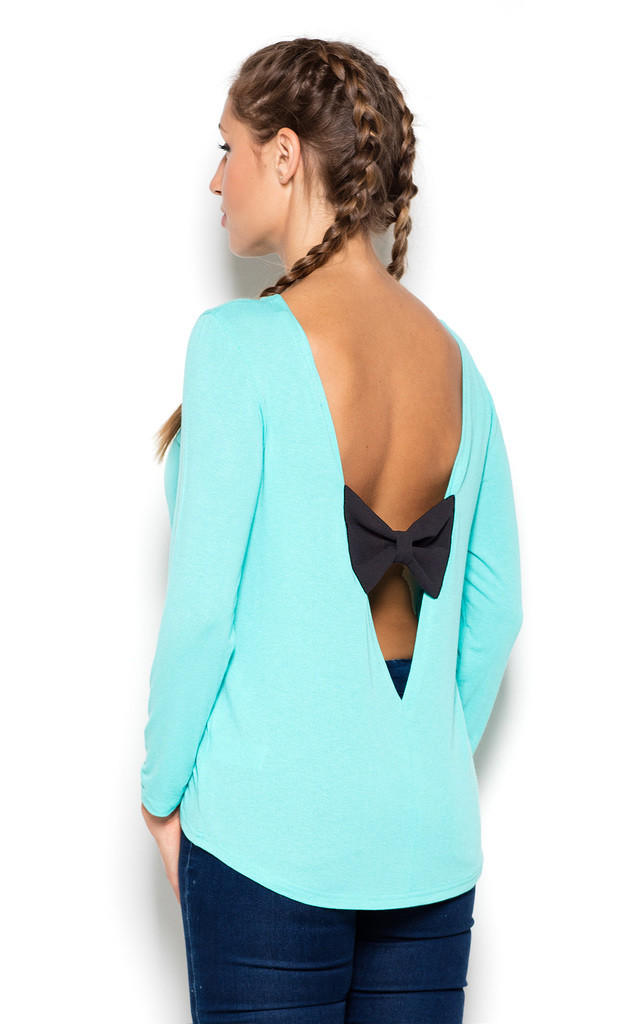 Green Back-bow Blouse by KATRUS