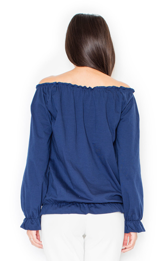 Navy Blue Carmen Top by KATRUS