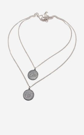 ELOISE Silver Oui Non Multirow Necklace by Rock N Rose
