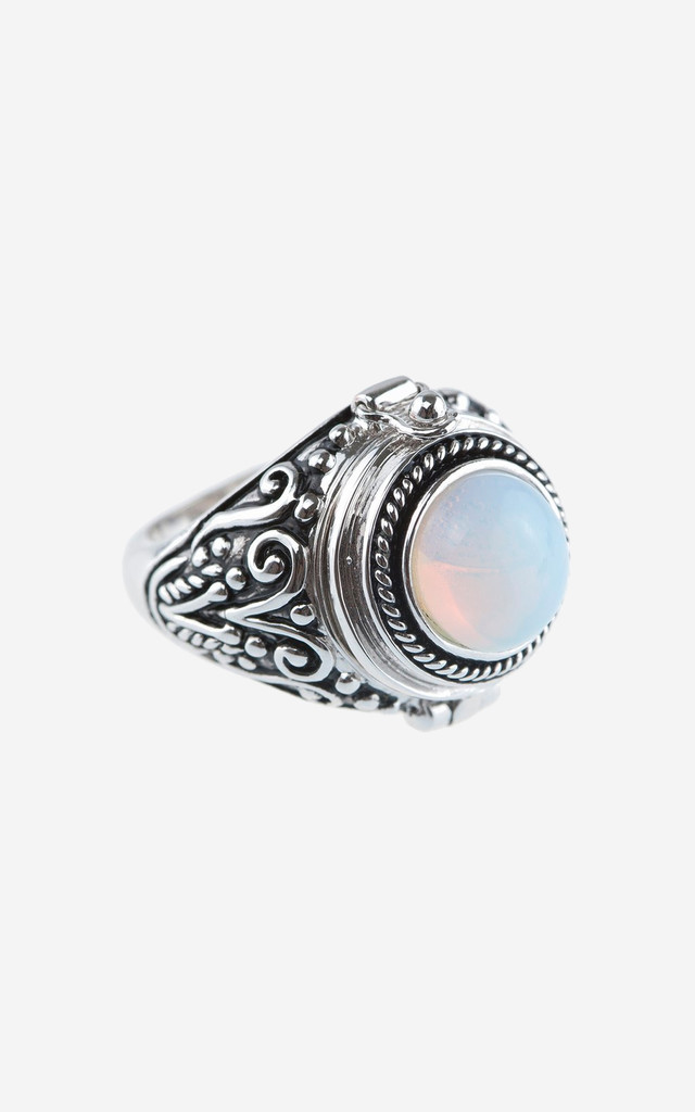 ALMA Moonstone Poison Ring by Rock N Rose